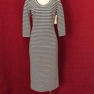 Nicole Miller Stretch Blk/Wht Stretch Dress Sz P